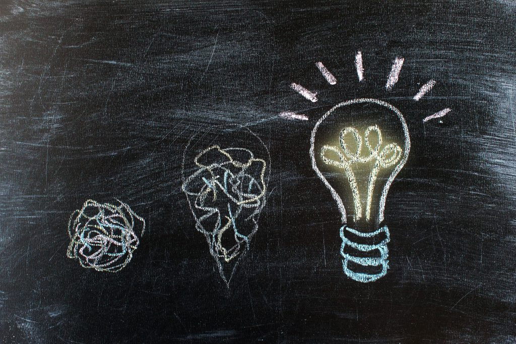 lightbulbs-on-a-chalkboard