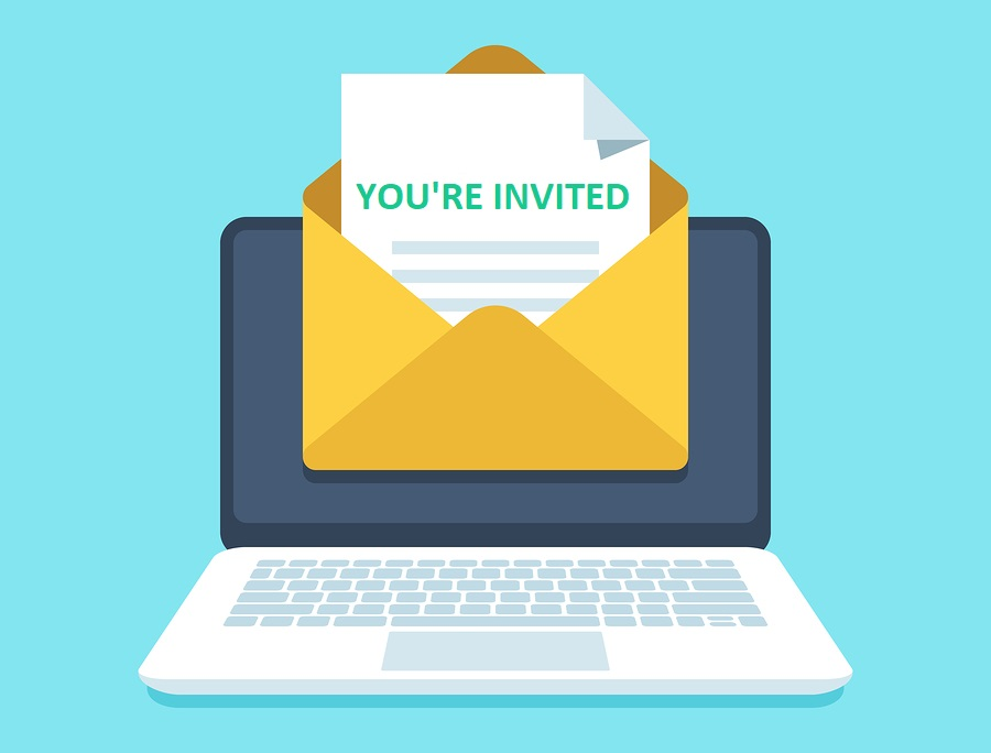 Automated email with invitation to event.