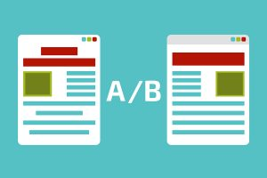 A-B test. AB comparison. Split testing.